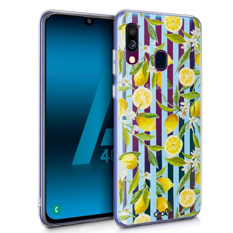 Carcasa Samsung A405 Galaxy A40 Clear Lemon