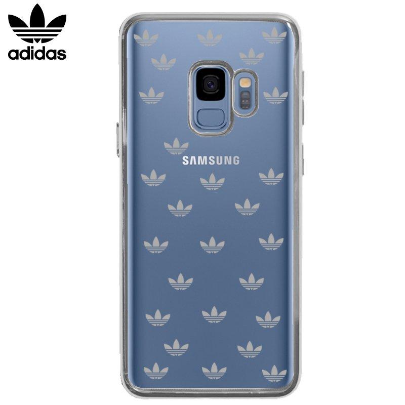 Carcasa Samsung G960 Galaxy S9 Licencia Adidas Transparente Metal Plata