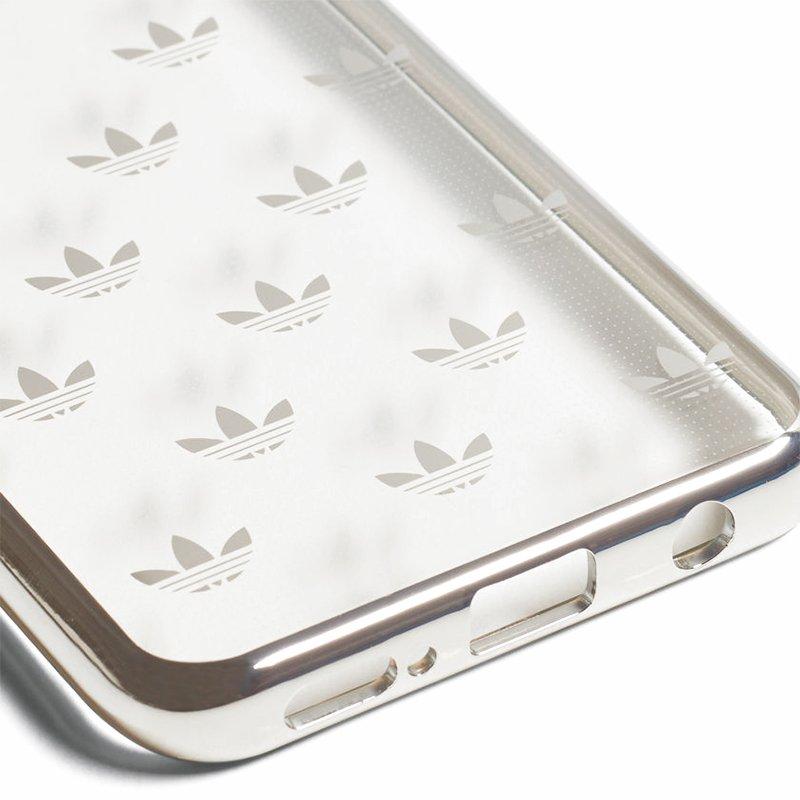 Carcasa Samsung G965 Galaxy S9 Plus Licencia Adidas Transparente Metal Plata