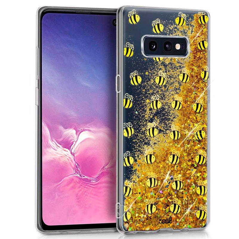 Carcasa Samsung G970 Galaxy S10e Glitter Abejas