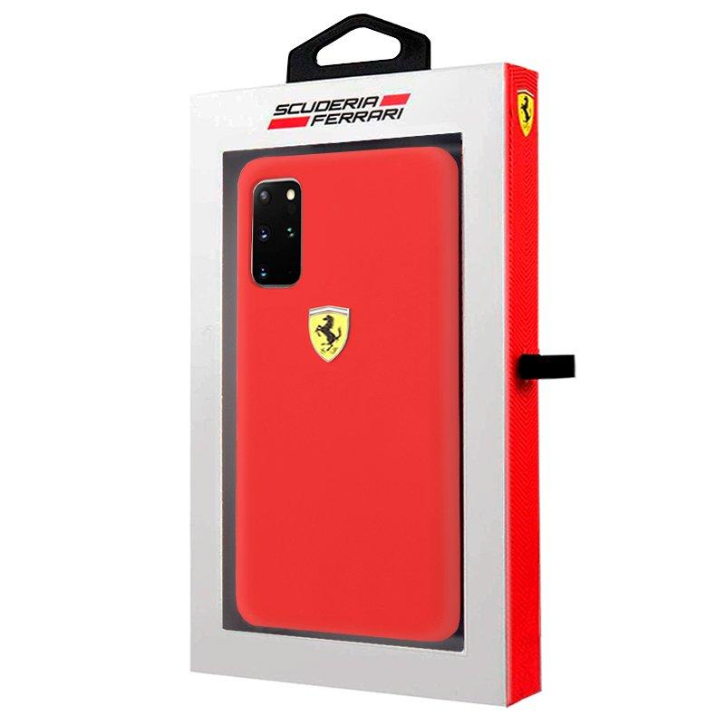 Carcasa Samsung G985 Galaxy S20 Plus Licencia Ferrari Soft Rojo
