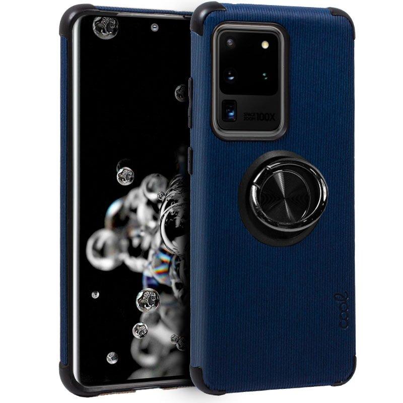 Carcasa Samsung G988 Galaxy S20 Ultra 5G Hard Tela + Anilla (Marino)