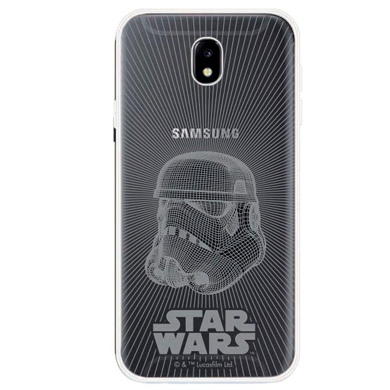 Carcasa Samsung J730 Galaxy J7 (2017) Licencia Star Wars Transparente Stormtrooper