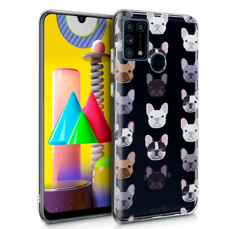 Carcasa Samsung M315 Galaxy M31 Clear Dogs