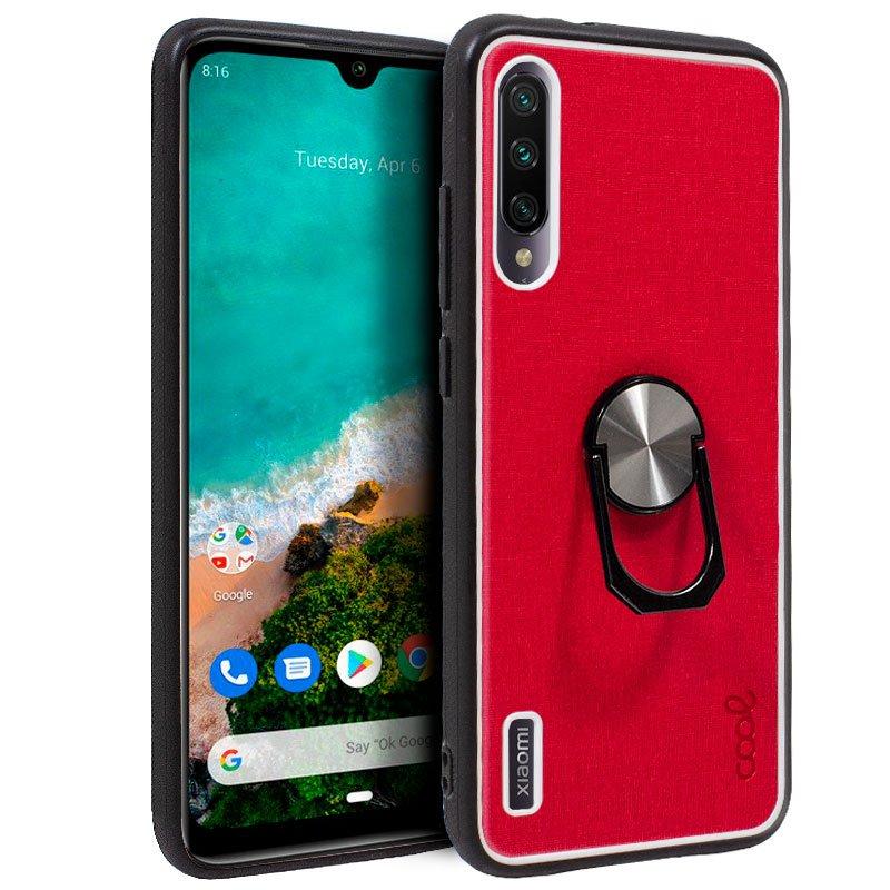 Carcasa Xiaomi Mi A3 Hard Tela Rojo
