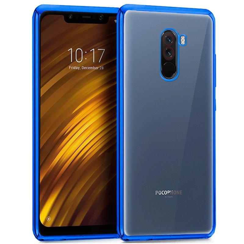 Carcasa Xiaomi Pocophone F1 Borde Metalizado (Azul)