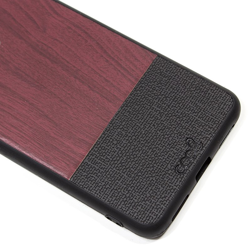 Carcasa Xiaomi Pocophone F1 Dibujos Madera Caoba