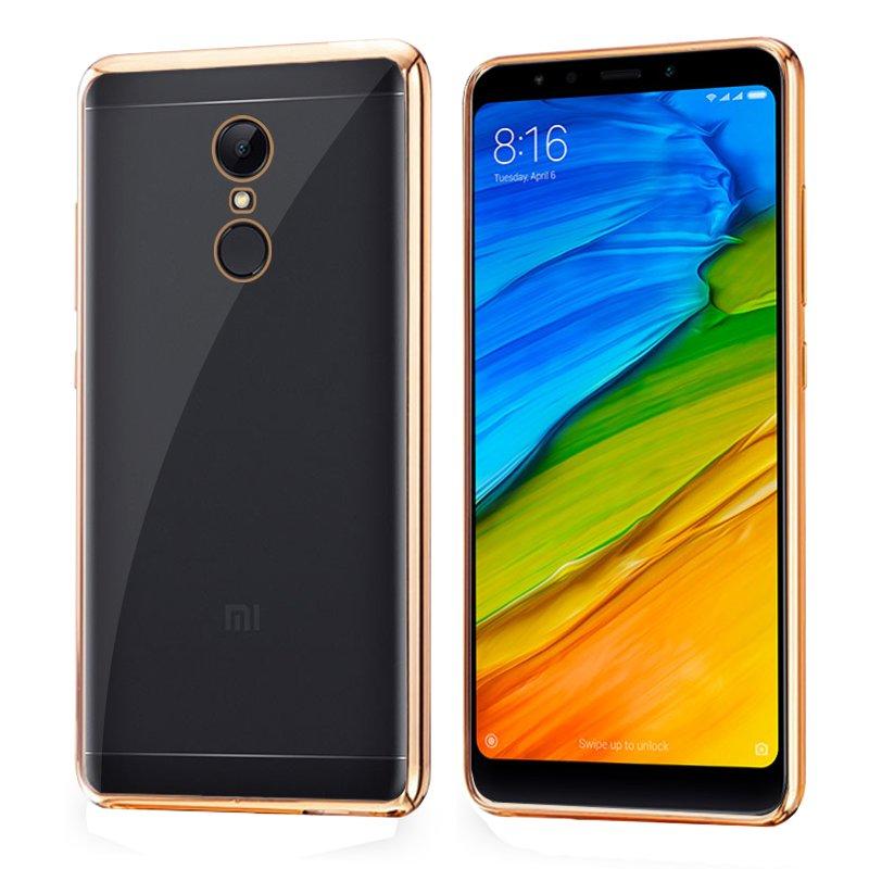 Carcasa Xiaomi Redmi 5 Borde Metalizado (Dorado)