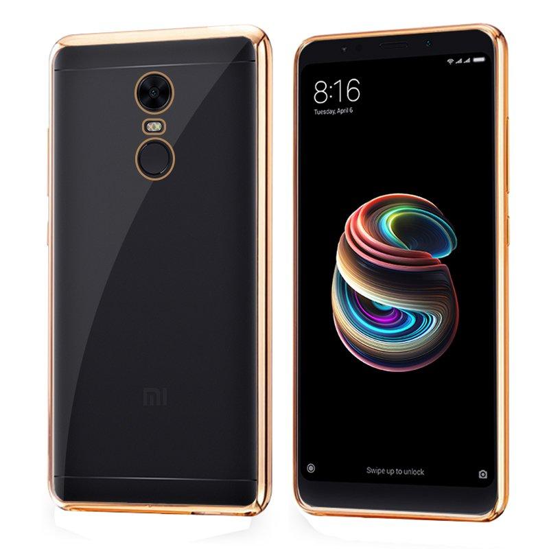 Carcasa Xiaomi Redmi 5 Plus Borde Metalizado (Dorado)