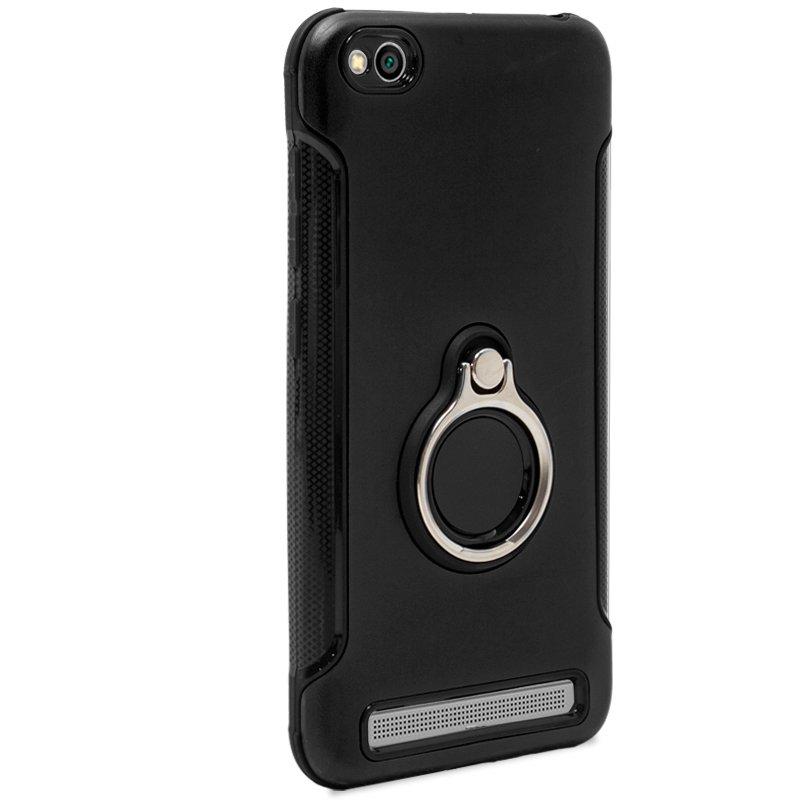 Carcasa Xiaomi Redmi 5A Aluminio + Anilla (Negro)