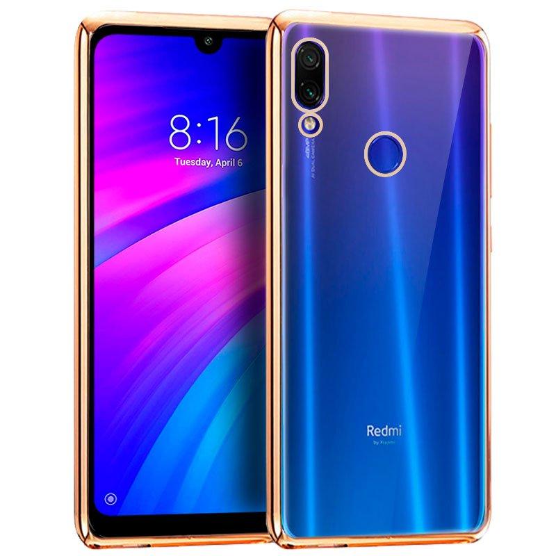 Carcasa Xiaomi Redmi 7 Borde Metalizado (Dorado)