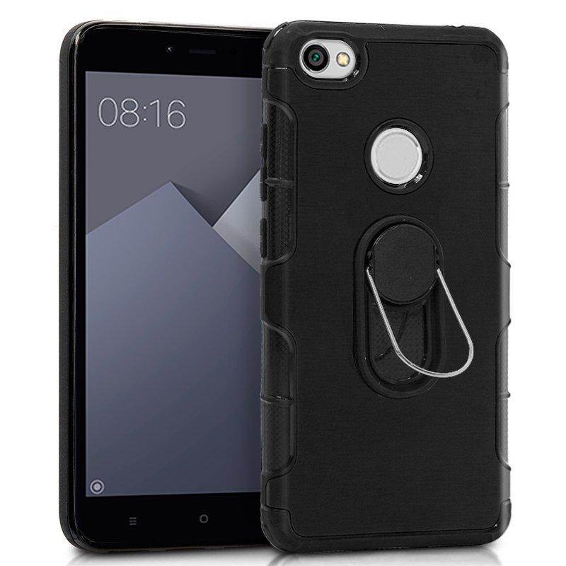 Carcasa Xiaomi Redmi Note 5A / Note 5A Prime Aluminio + Anilla (Negro)