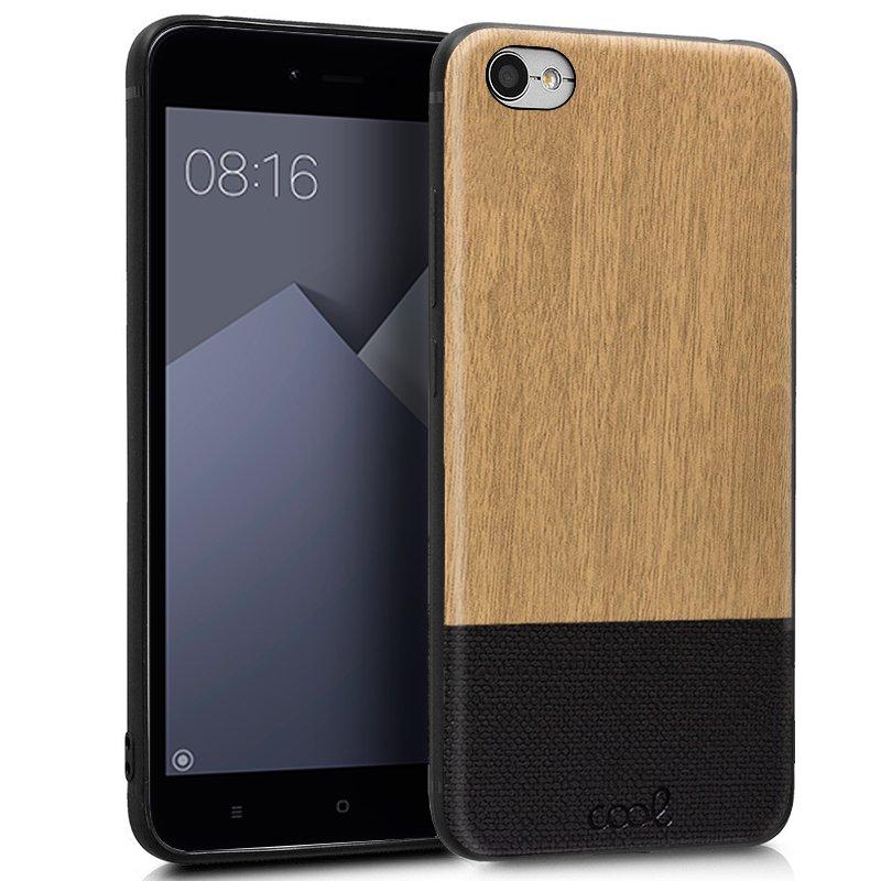 Carcasa Xiaomi Redmi Note 5A / Note 5A Prime Dibujos Madera Beige