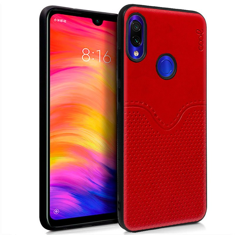 Carcasa Xiaomi Redmi Note 7 / Note 7 Pro Leather Piel Rojo