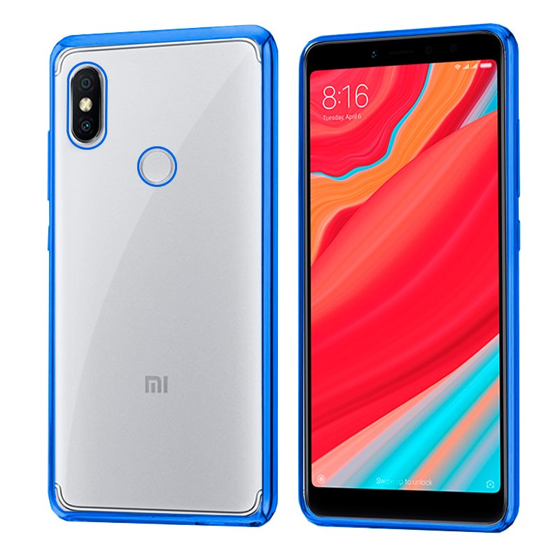 Carcasa Xiaomi Redmi S2 Borde Metalizado (Azul)