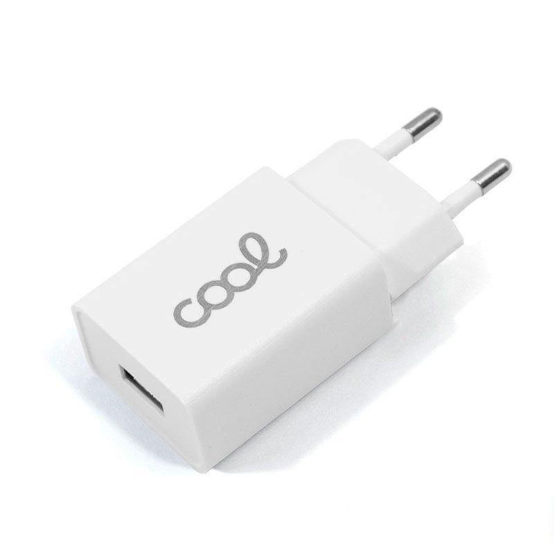 Cargador Red Universal Entrada 1 x USB COOL 1.5 Amperios Blanco