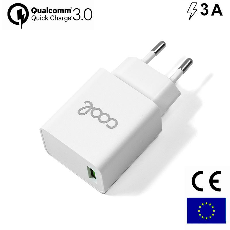 Cargador Red Universal Fast Adap. Charger 1 X USB COOL 3 Amp (18W) Blanco
