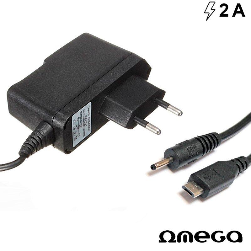 Cargador Red Universal Tablets DC 2.5 mm / Micro-Usb Omega