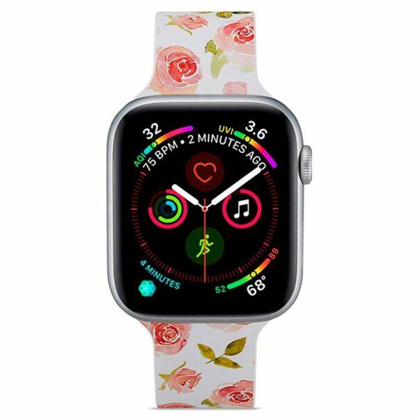 Correa Apple Watch Series 1 / 2 / 3 / 4 / 5 / 6 / SE (38 / 40 mm) Estampado Flores