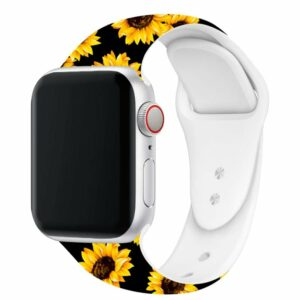 Correa Apple Watch Series 1 / 2 / 3 / 4 / 5 / 6 / SE (38 / 40 mm) Estampado Girasoles
