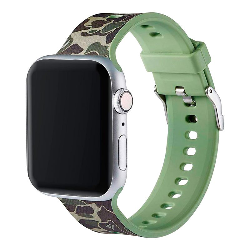 Correa Apple Watch Series 1 / 2 / 3 / 4 / 5 / 6 / SE (38 / 40 mm) Estampado Militar Verde