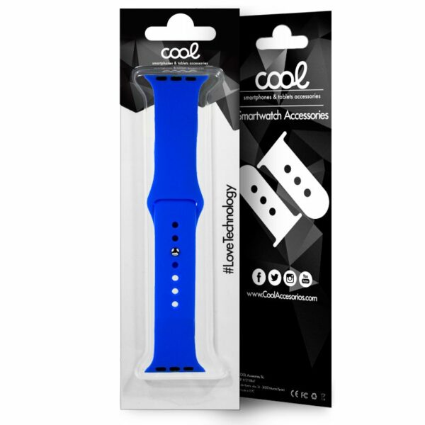 Correa Apple Watch Series 1 / 2 / 3 / 4 / 5 / 6 / SE (38 / 40 mm) Goma Azul
