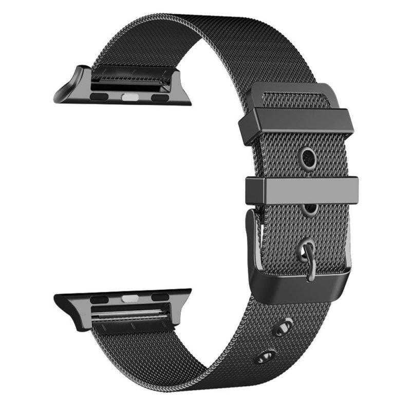 Correa Apple Watch Series 1 / 2 / 3 / 4 / 5 / 6 / SE (38 / 40 mm) Metal Negro