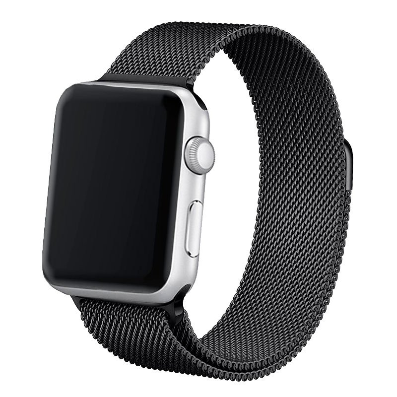 Correa Apple Watch Series 1 / 2 / 3 / 4 / 5 / 6 / SE (38 / 40 mm) Metal Negro