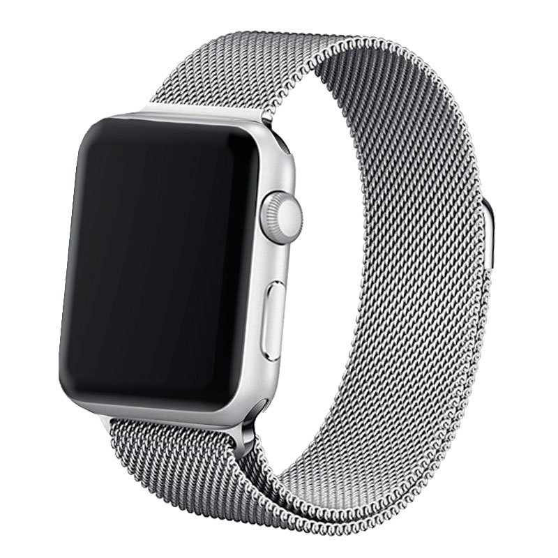 Correa Apple Watch Series 1 / 2 / 3 / 4 / 5 / 6 / SE (38 / 40 mm) Metal Plata