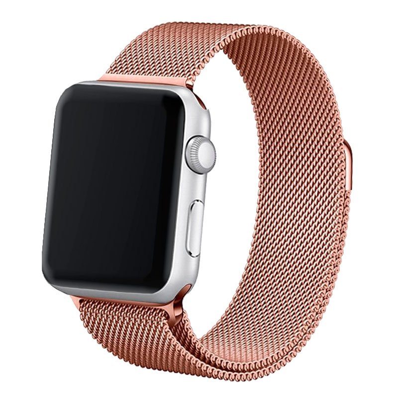 Correa Apple Watch Series 1 / 2 / 3 / 4 / 5 / 6 / SE (38 / 40 mm) Metal Rose Gold