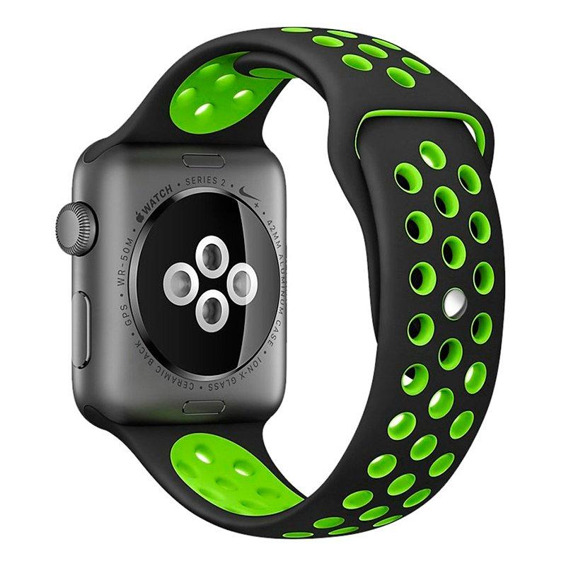 Correa Apple Watch Series 1 / 2 / 3 / 4 / 5 / 6 / SE (38 / 40 mm) Sport Negro