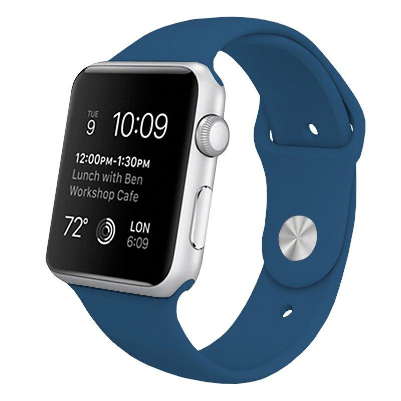 Correa Apple Watch Series 1 / 2 / 3 / 4 / 5 / 6 / SE (42 / 44 mm) Goma Azul