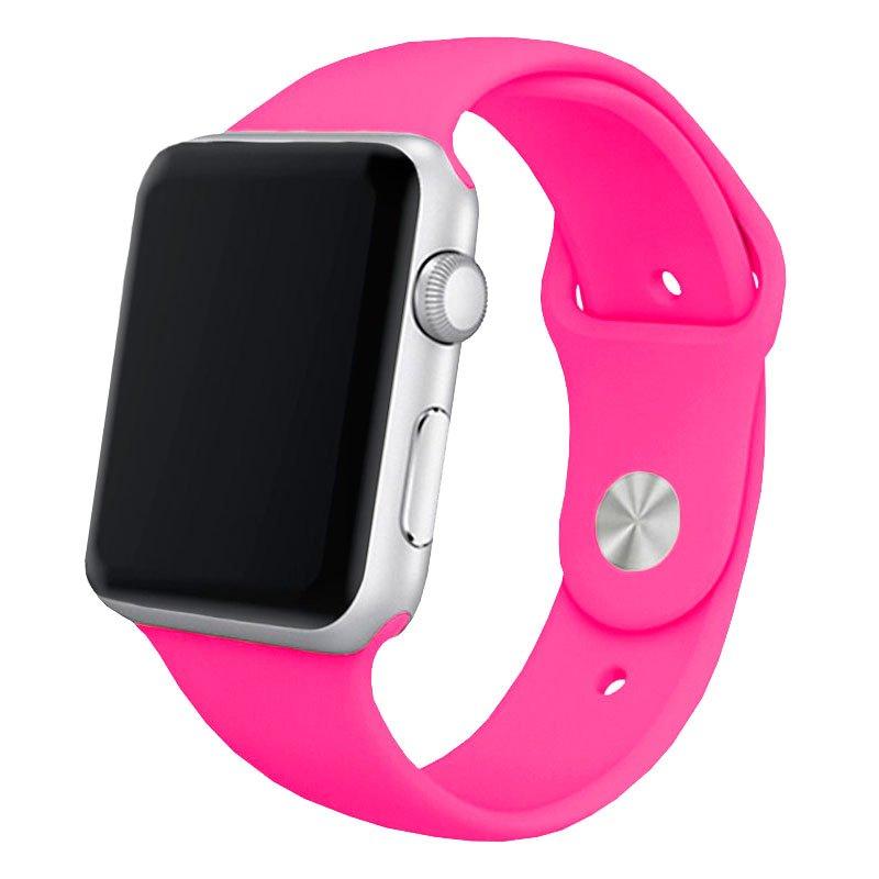 Correa Apple Watch Series 1 / 2 / 3 / 4 / 5 / 6 / SE (42 / 44 mm) Goma Fucsia