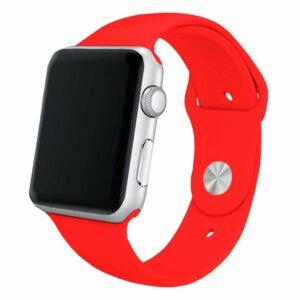 Correa Apple Watch Series 1 / 2 / 3 / 4 / 5 / 6 / SE (42 / 44 mm) Goma Rojo