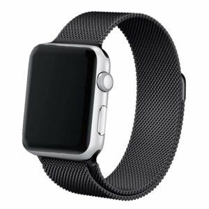 Correa Apple Watch Series 1 / 2 / 3 / 4 / 5 / 6 / SE (42 / 44 mm) Metal Negro