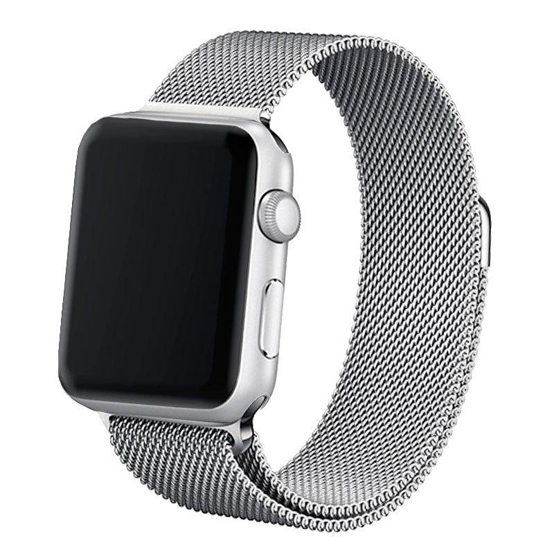 Correa Apple Watch Series 1 / 2 / 3 / 4 / 5 / 6 / SE (42 / 44 mm) Metal Plata