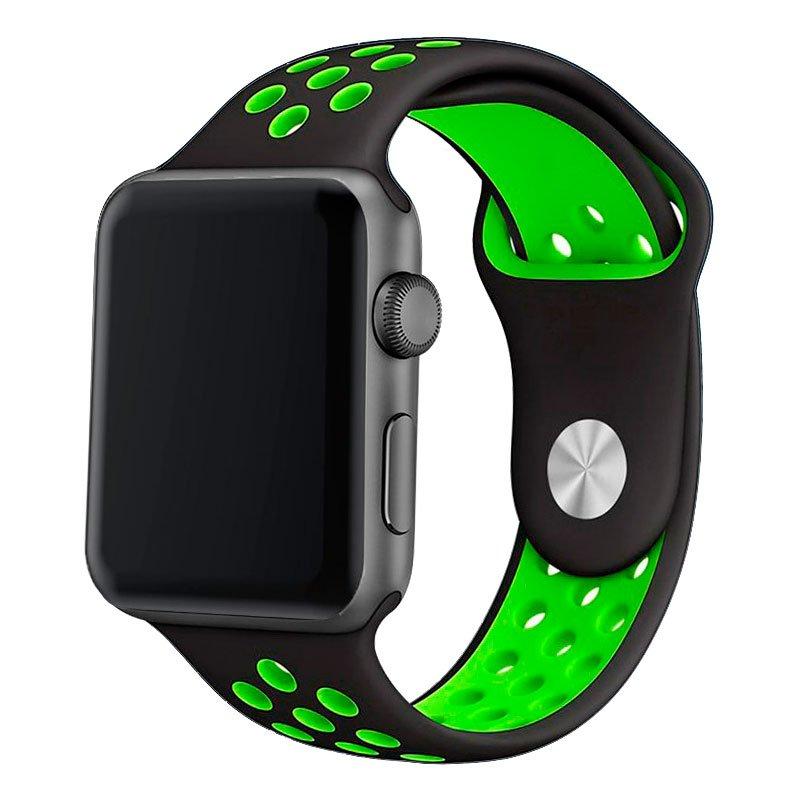 Correa Apple Watch Series 1 / 2 / 3 / 4 / 5 / 6 / SE (42 / 44 mm) Sport Negro