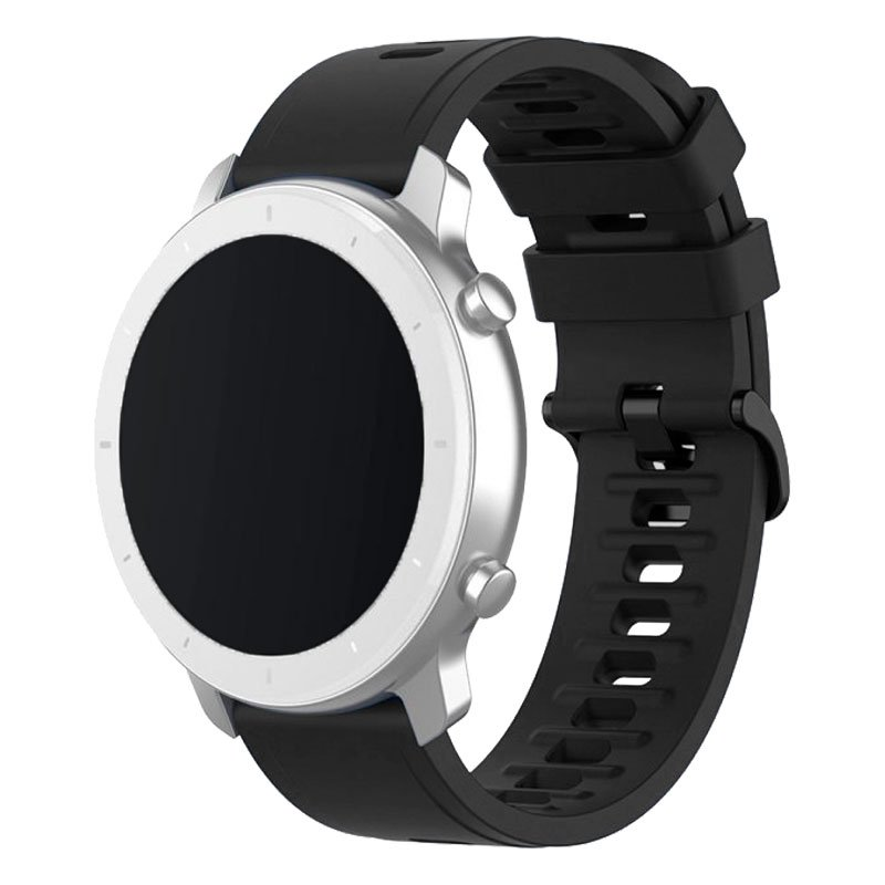 Correa Universal 22mm Amazfit GTR / Stratos / Huawei / Samsung / COOL Bristol Goma Negro