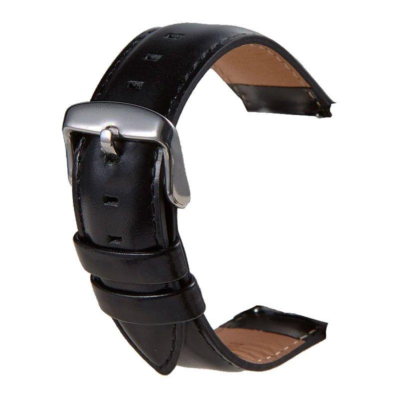 Correa Universal 22mm Amazfit GTR / Stratos / Huawei / Samsung / COOL Bristol Polipiel Negro