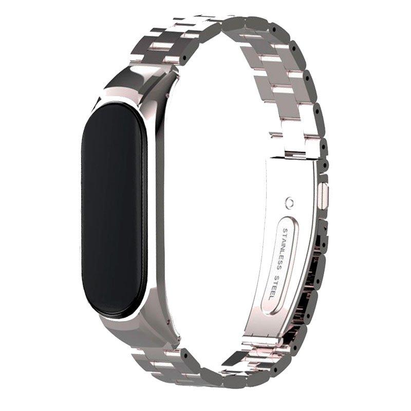 Correa Xiaomi Mi Band 5 Steel Plata