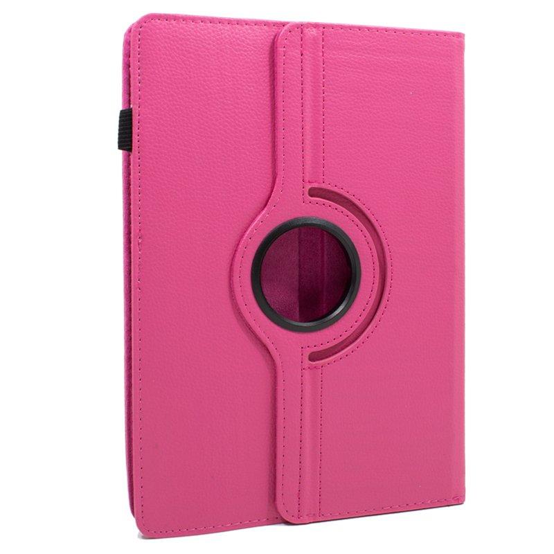 Funda Ebook Tablet 10 pulgadas Polipiel Giratoria Rosa