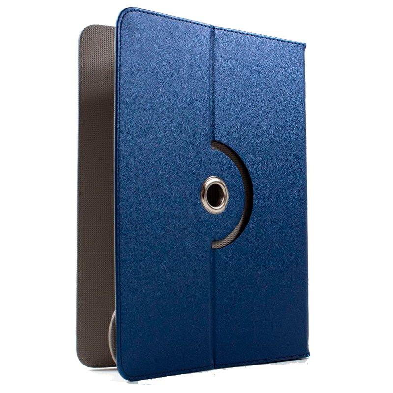 Funda Ebook / Tablet 7 pulg Polipiel Azul Giratoria