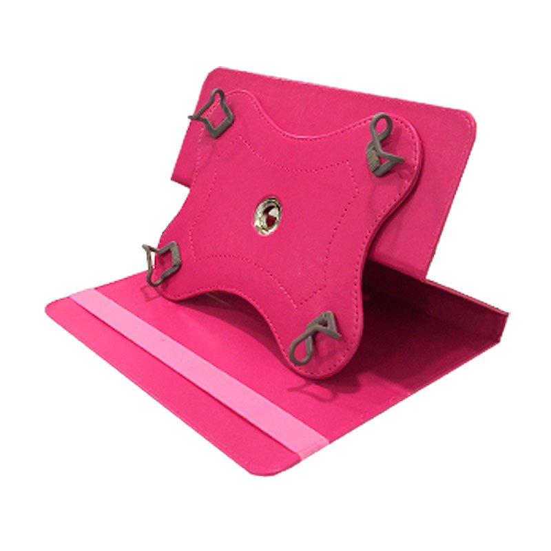 Funda Ebook / Tablet 7 pulg Polipiel Rosa Giratoria
