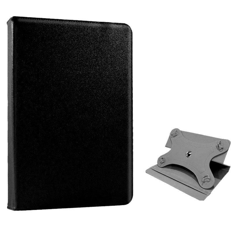 Funda Ebook / Tablet 8 pulgadas Liso Negro Giratoria