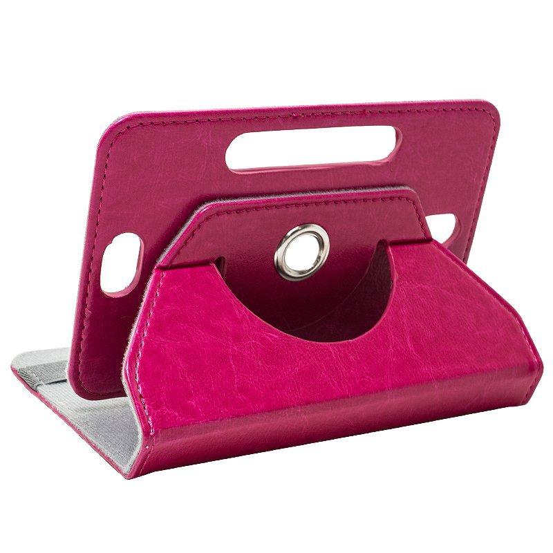 Funda Ebook / Tablet 8 pulgadas Liso Rosa Giratoria