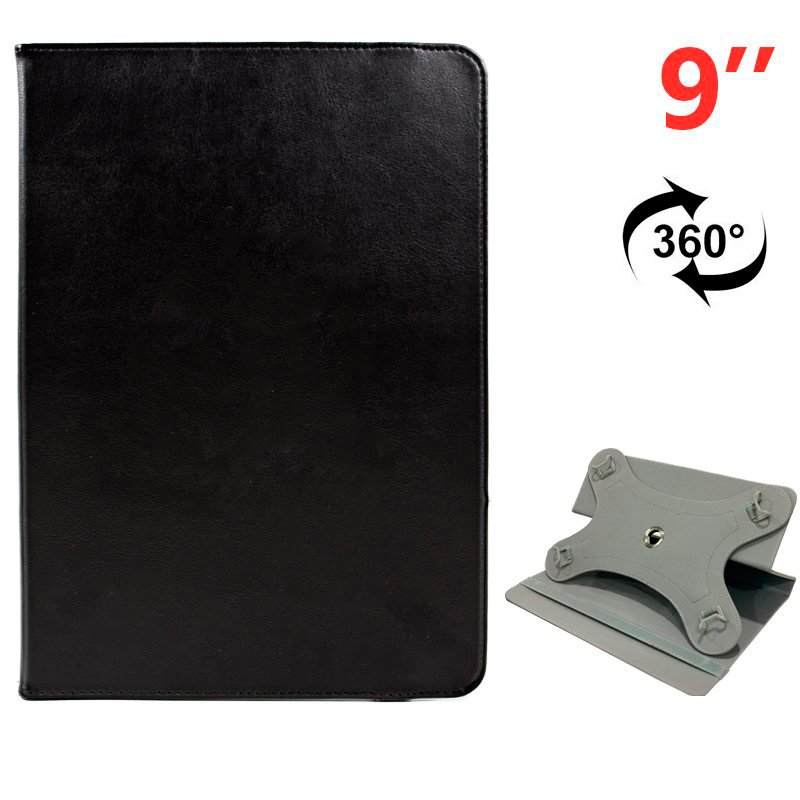 Funda Ebook / Tablet 9 pulg Liso Negro Giratoria