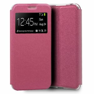 Funda Flip Cover Alcatel 1B (2020) Liso Rosa