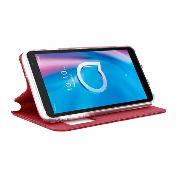Funda Flip Cover Alcatel 1S (2020) / Alcatel 3L (2020) Liso Rojo