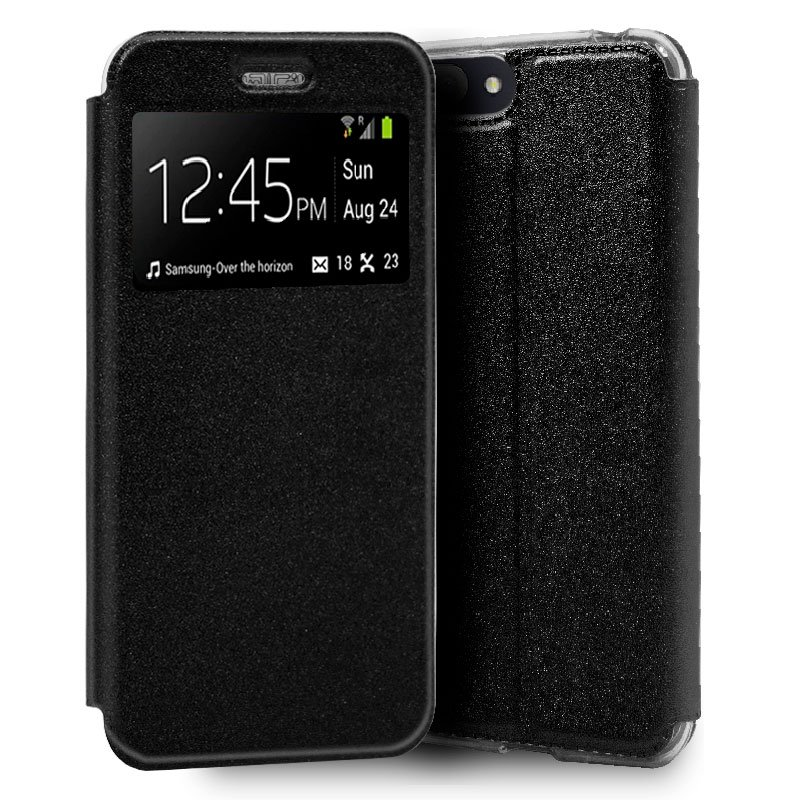 Funda Flip Cover Alcatel 1V (2019) Liso Negro