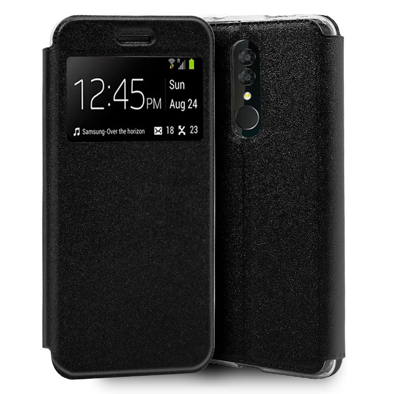 Funda Flip Cover Alcatel 3 (2019) Liso Negro